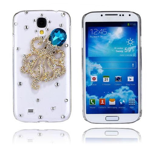 Luxury Bling (Blå Bläckfisk) Samsung Galaxy S4 Skal