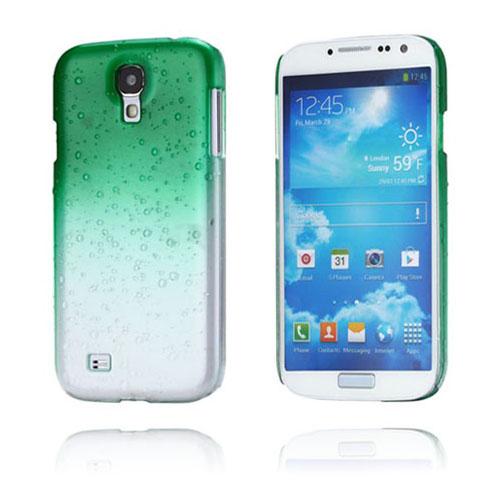 Raindrops (Grön) Samsung Galaxy S4 Skal
