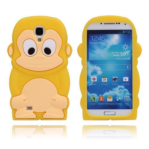 Monkey (Gul) Samsung Galaxy S4 Silikonskal