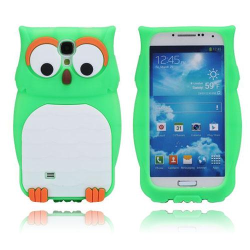Owl (Grön) Samsung Galaxy S4 Silikonskal