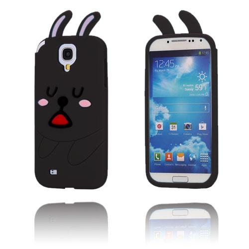 Cute Rabbit (Svart) Samsung Galaxy S4 Skal