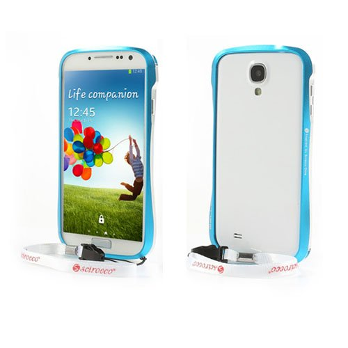 Scirocco (Ljusblå) Samsung Galaxy S4 Aluminium-Bumper