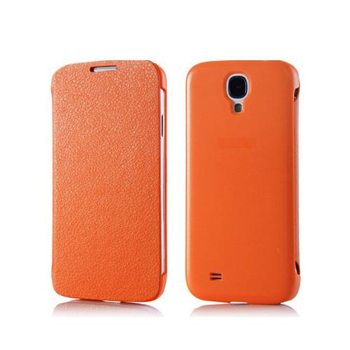 Chicago (Orange) Samsung Galaxy S4 Hårt bakskal med läderlucka