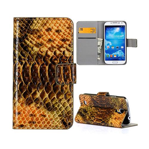 Snake (Brun) Samsung Galaxy S4 Läderfodral