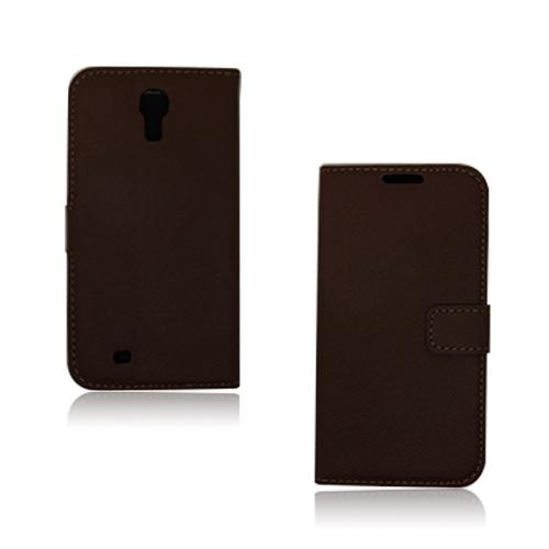 Pinstripe (Brun) Samsung Galaxy S4 Flip-Fodral