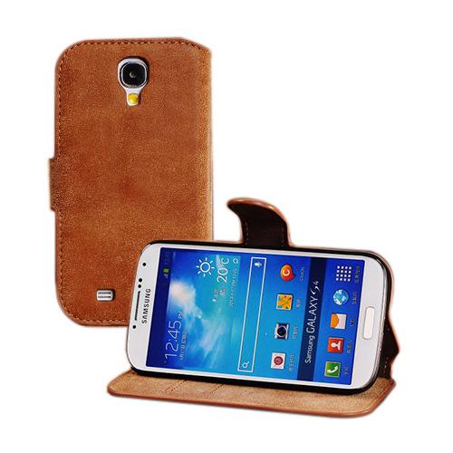 Phoenix (Brun) Samsung Galaxy S4 Genuint Läderfodral