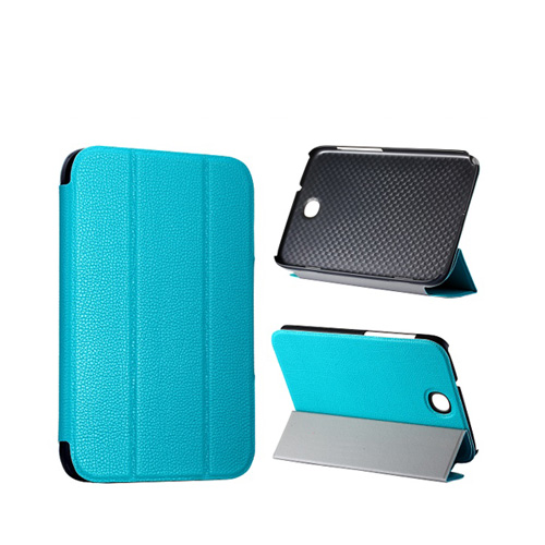 Smart Skal (Ljusblå) Samsung Galaxy Note 8.0 Läderfodral