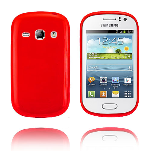 GelCase (Röd) Samsung Galaxy Fame Skal