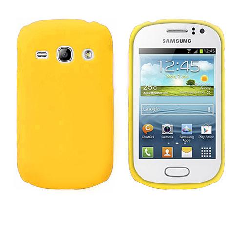 Hard Shell (Gul) Samsung Galaxy Fame Skal
