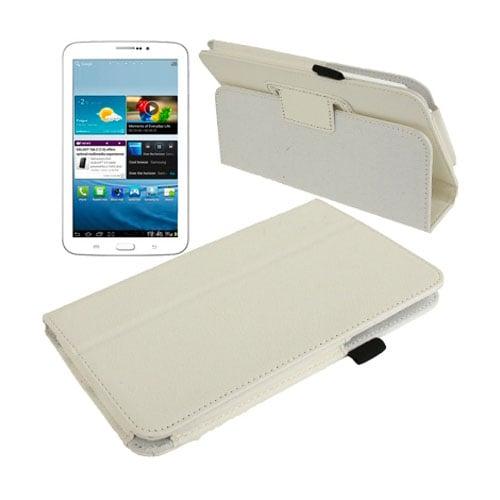 Boston (Vit) Samsung Galaxy Tab 3 7.0 Läderfodral