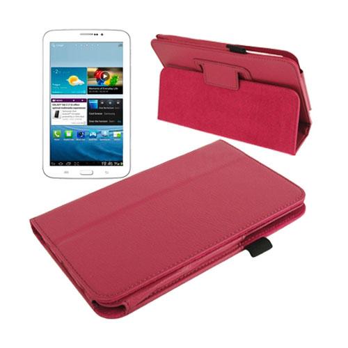 Boston (Stark Rosa) Samsung Galaxy Tab 3 7.0 Läderfodral