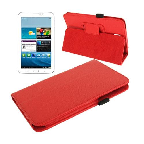 Boston (Röd) Samsung Galaxy Tab 3 7.0 Läderfodral