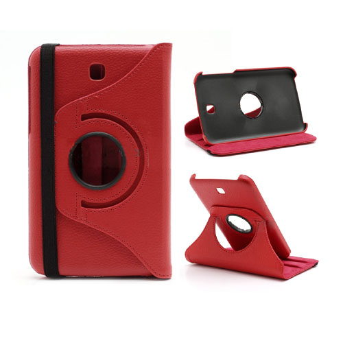 SmartStand (Röd) Samsung Galaxy Tab 3 Läderfodral