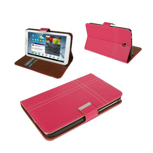 Alpha (Rosa) Samsung Galaxy Tab 3 7.0 Läderfodral
