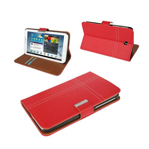 Alpha (Röd) Samsung Galaxy Tab 3 7.0 Läderfodral