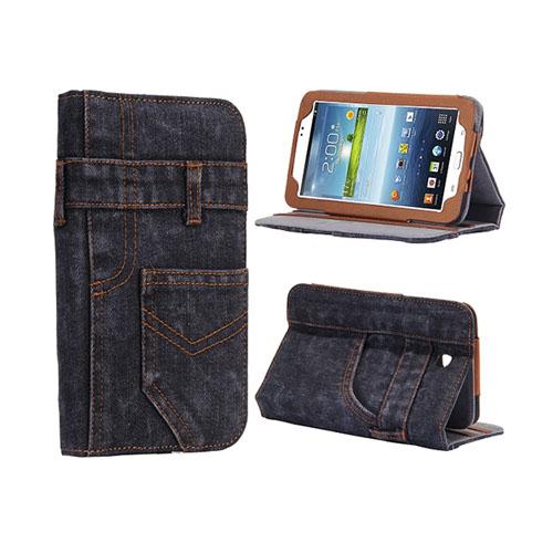 Blue Jeans (Mörkgrå) Samsung Galaxy Tab 3 7.0 Skal