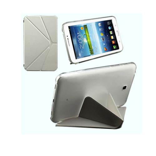 ICOK (Vit) Samsung Galaxy Tab 3 7.0 Läderfodral