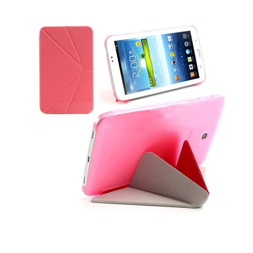 ICOK (Rosa) Samsung Galaxy Tab 3 7.0 Läderfodral