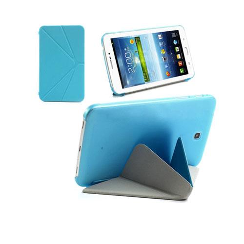 ICOK (Blå) Samsung Galaxy Tab 3 7.0 Läderfodral