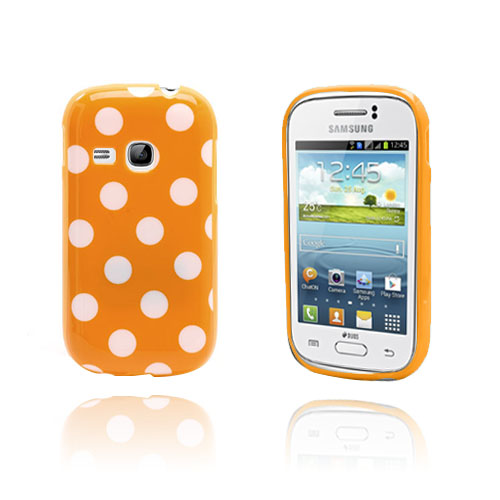 Polka Dots (Orange) Samsung Galaxy Young Skal