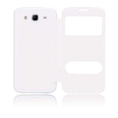 Back Flip (Vitt) Samsung Galaxy Mega 5.8 Utbytbart Bakskal
