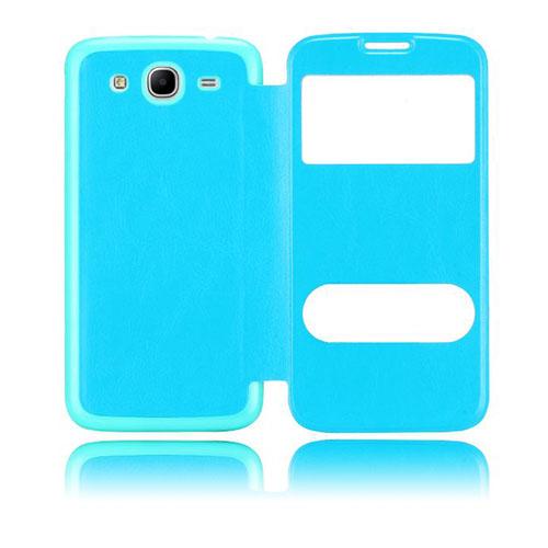 Back Flip (Ljusblå) Samsung Galaxy Mega 5.8 Utbytbart Bakskal