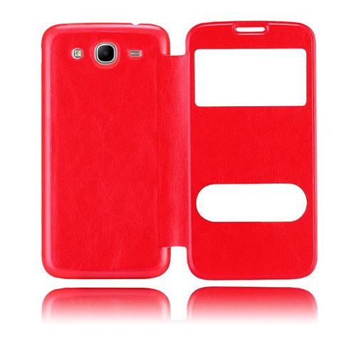 Back Flip (Röd) Samsung Galaxy Mega 5.8 Utbytbart Bakskal