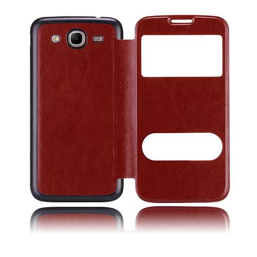 Back Flip (Brun) Samsung Galaxy Mega 5.8 Utbytbart Bakskal