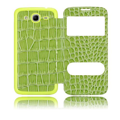 Croco Flip (Grön) Samsung Galaxy Mega 5.8 Utbytbart Bakskal