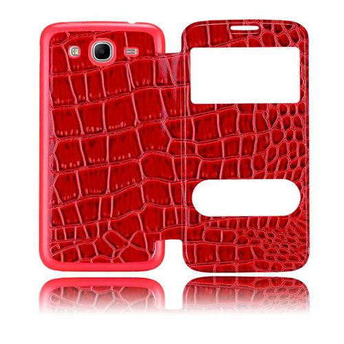 Croco Flip (Röd) Samsung Galaxy Mega 5.8 Utbytbart Bakskal