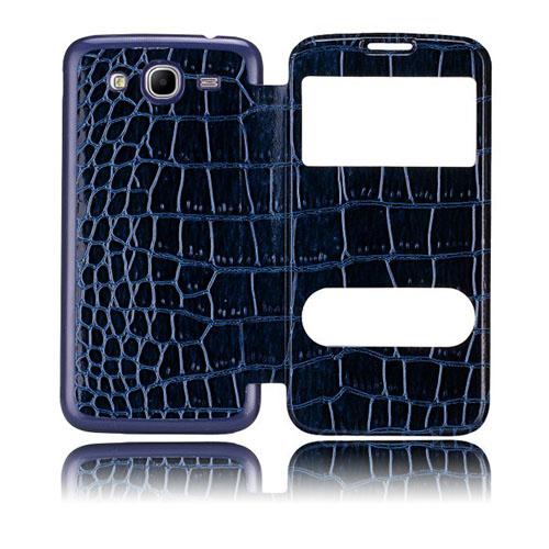 Croco Flip (Blå) Samsung Galaxy Mega 5.8 Utbytbart Bakskal