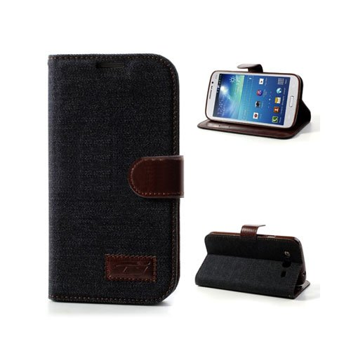 Denim (Svart) Samsung Galaxy Mega 5.8 Fodral
