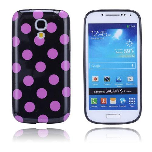 Polkaprickar (Svart / Rosa) Samsung Galaxy S4 Mini Skal