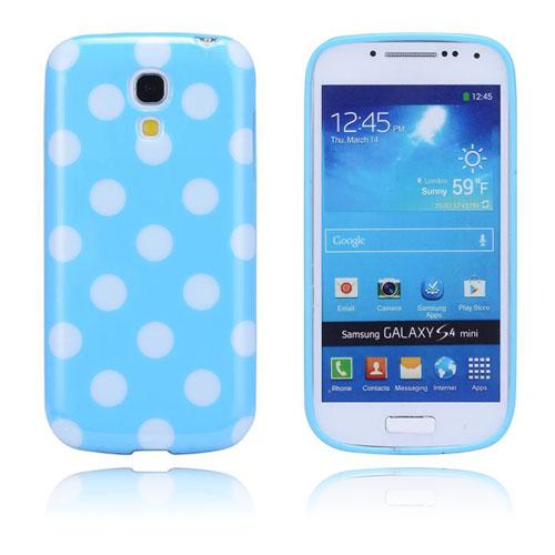 Polkaprickar (Blå) Samsung Galaxy S4 Mini Skal