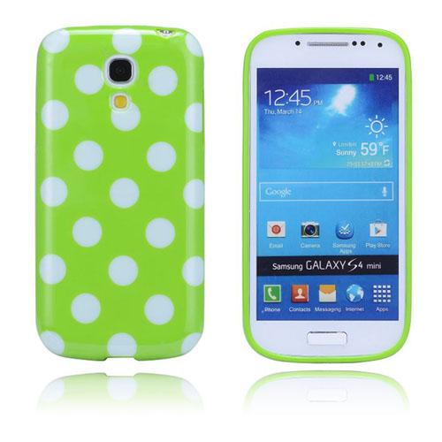 Polkaprickar (Grön) Samsung Galaxy S4 Mini Skal
