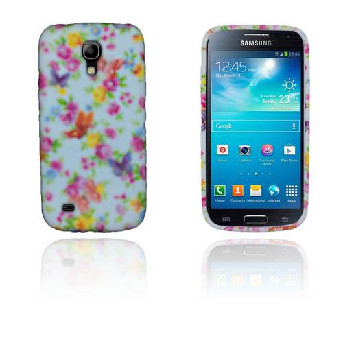Butterflies (Vit & Roser) Samsung Galaxy S4 Mini Skal