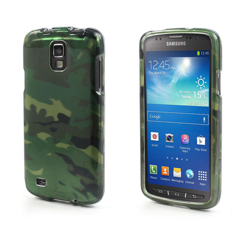 Christensen Samsung Galaxy S4 Active Hårt Skal – Grön Camouflage