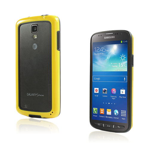 Arc Edge Samsung Galaxy S4 Active Bumper – Svart / Gul