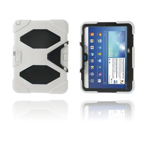 Armor (Vit) Samsung Galaxy Tab 3 10.1 Ultra Skal