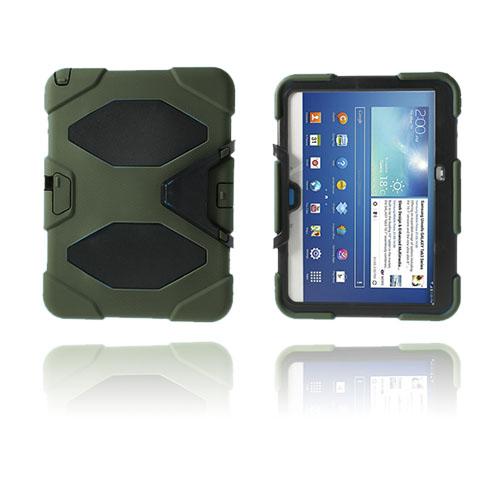Armor (Mörkgrön) Samsung Galaxy Tab 3 10.1 Ultra Skal