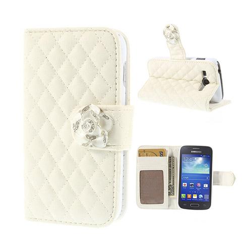 Camellia (Vit) Samsung Galaxy Ace 3 Flip-Fodral