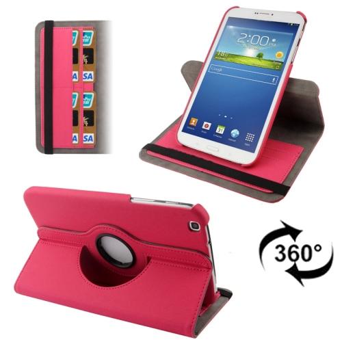 3-Sextio (Magenta) Samsung Galaxy Tab 3 8.0 Läderfodral