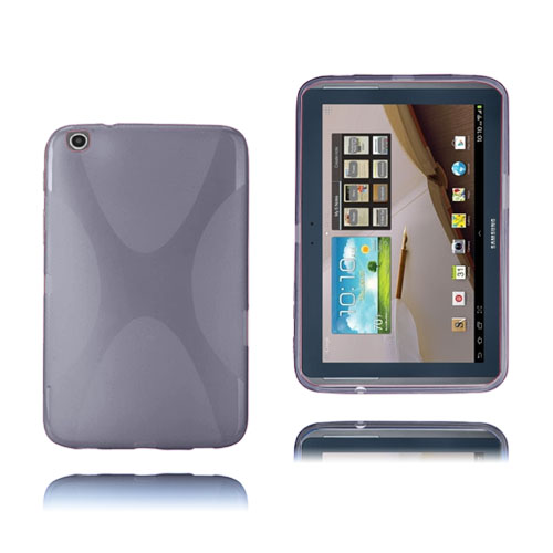 X-Line (Grå) Transparent Samsung Galaxy Tab 3 Plus 8.0 Skal
