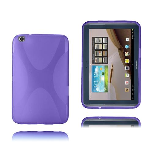 X-Line (Lila) Transparent Samsung Galaxy Tab 3 Plus 8.0 Skal