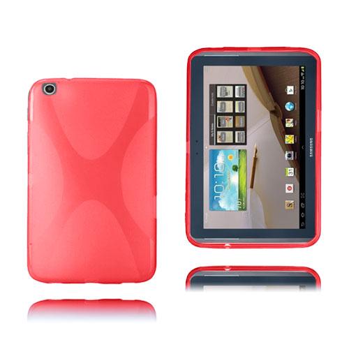X-Line (Röd) Transparent Samsung Galaxy Tab 3 Plus 8.0 Skal