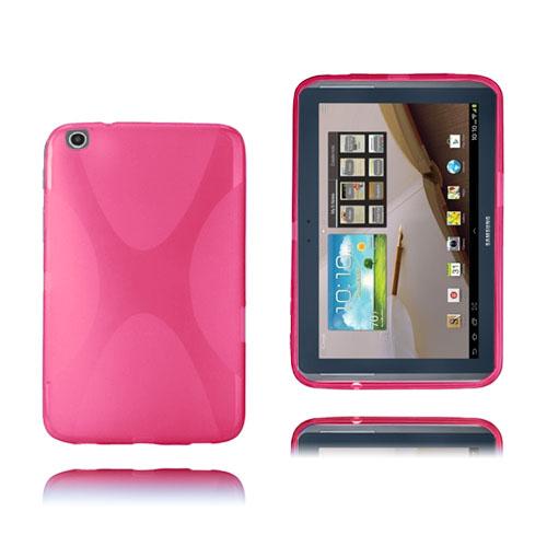 X-Line (Het Rosa) Transparent Samsung Galaxy Tab 3 Plus 8.0 Skal