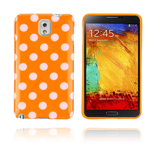 Polka Dots (Orange) Samsung Galaxy Note 3 Skal