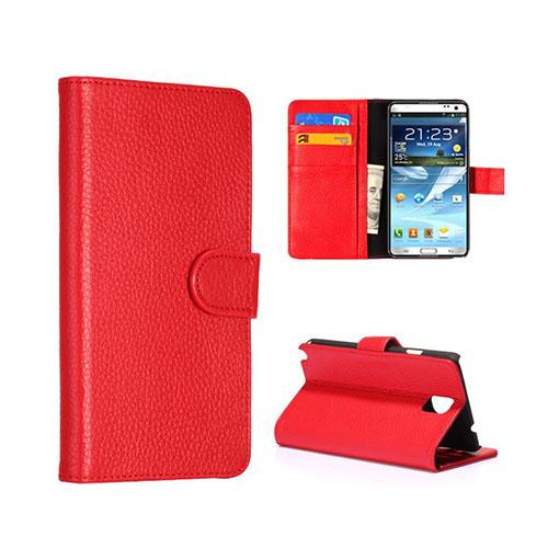 President (Röd) Samsung Galaxy Note 3 Äkta Läderfodral