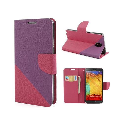 Diagonal (Lila / Starkes Rosa) Samsung Galaxy Note 3 Läderfodral