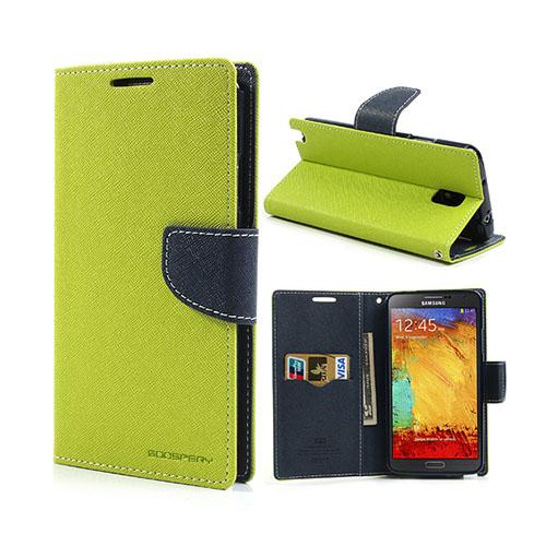 Mercury (Grön) Samsung Galaxy Note 3 Läderfodral